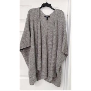 Forever 21 Chunky Knit Grey Open Front Cardigan M